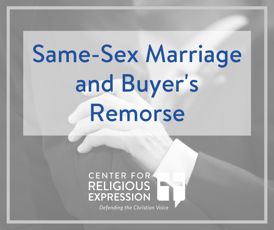 "While many Americans, persuaded by equality rhetoric, are buying into same-sex ""marriage,"" polling shows that they could soon experience buyer's remorse. www.crelaw.org"