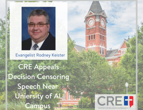 CRE Appeals Decision Allowing University to Control Speech Near Campus