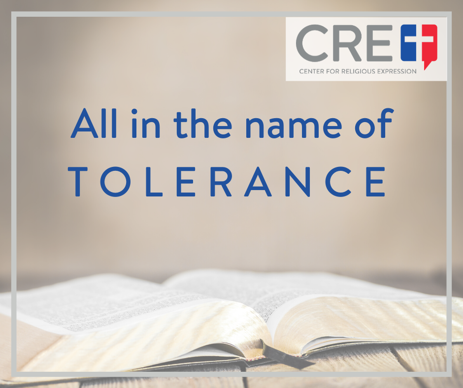 Those holding to traditional biblical values are bullied into keeping those values to themselves – all under the banner of tolerance.