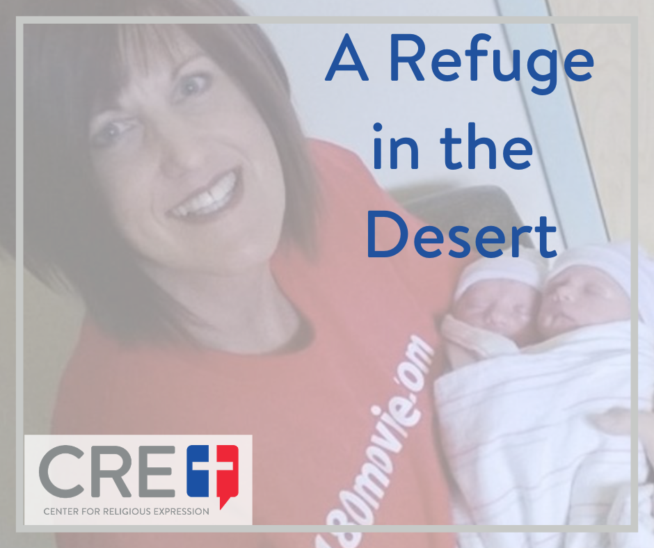 Sherry's expressed love for Rebecca and her babies all began on a sidewalk, where she exercised her First Amendment freedom to share her faith and beliefs. www.crelaw.org