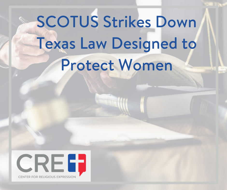 Texas law should concern us all regarding the abortion industry, the unborn, and consequently the care for the health and life of women in this country. www.crelaw.org