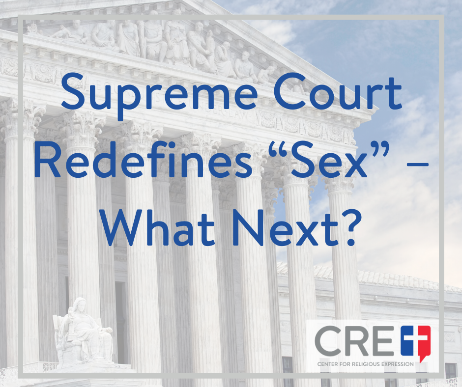 "SCOTUS ruling will subject employers to liability if they do not enforce ""pronoun"" codes on their employees, in a manner inconsistent with their beliefs. www.crelaw.org"