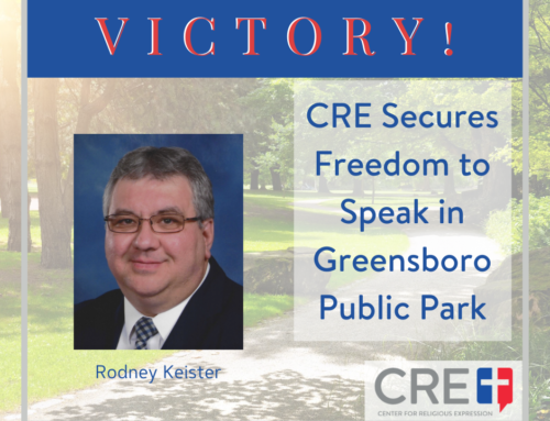 CRE Secures Freedom to Speak in Greensboro Public Park