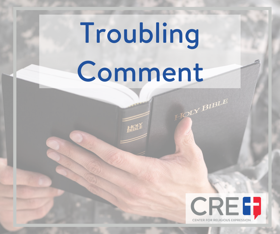 It is essential to religious liberty that our military chaplains not be forced to engage in activities that cut against their deeply-held religious beliefs. www.crelaw.org