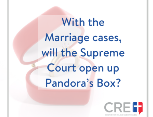 With the Marriage cases, will the Supreme Court open up Pandora's Box?
