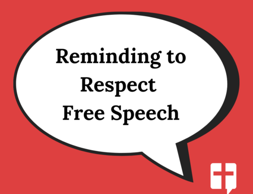 Reminding to Respect Free Speech