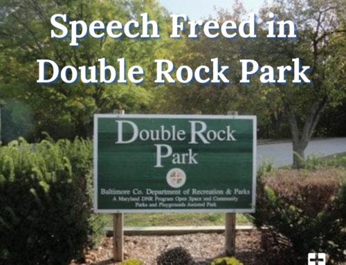 Speech Freed in Double Rock Park